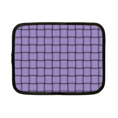 Light Pastel Purple Weave Netbook Case (small)