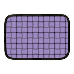 Light Pastel Purple Weave Netbook Case (medium)