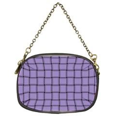 Light Pastel Purple Weave Chain Purse (one Side)