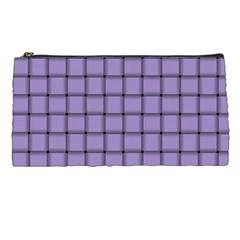 Light Pastel Purple Weave Pencil Case