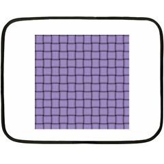 Light Pastel Purple Weave Mini Fleece Blanket (Two-sided)