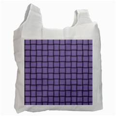 Light Pastel Purple Weave Recycle Bag (one Side)
