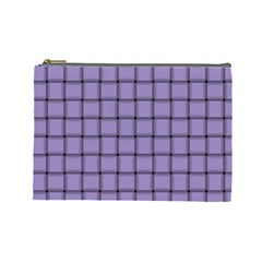 Light Pastel Purple Weave Cosmetic Bag (Large)