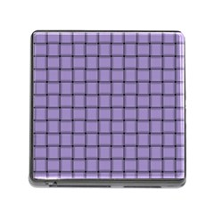 Light Pastel Purple Weave Memory Card Reader With Storage (square)