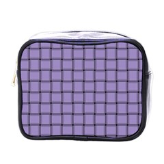 Light Pastel Purple Weave Mini Travel Toiletry Bag (One Side)