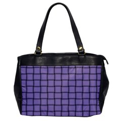 Light Pastel Purple Weave Oversize Office Handbag (One Side)