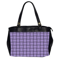 Light Pastel Purple Weave Oversize Office Handbag (Two Sides)