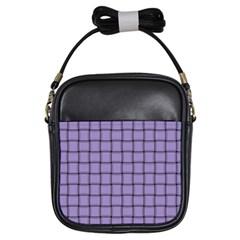 Light Pastel Purple Weave Girl s Sling Bag