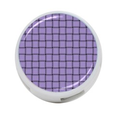 Light Pastel Purple Weave 4-Port USB Hub (One Side)