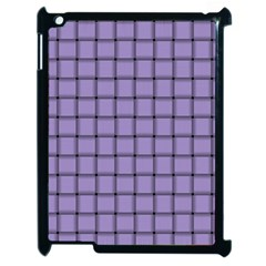 Light Pastel Purple Weave Apple iPad 2 Case (Black)