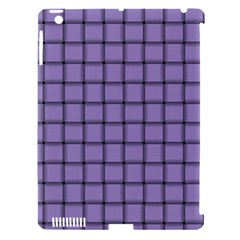 Light Pastel Purple Weave Apple iPad 3/4 Hardshell Case (Compatible with Smart Cover)