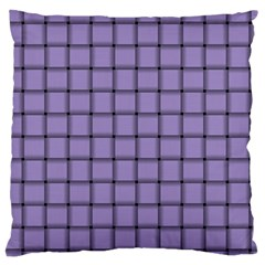 Light Pastel Purple Weave Large Cushion Case (Two Sides)
