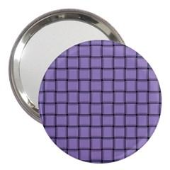 Light Pastel Purple Weave 3  Handbag Mirror