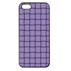 Light Pastel Purple Weave Apple iPhone 5 Seamless Case (Black)