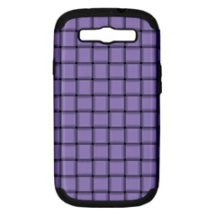 Light Pastel Purple Weave Samsung Galaxy S Iii Hardshell Case (pc+silicone)
