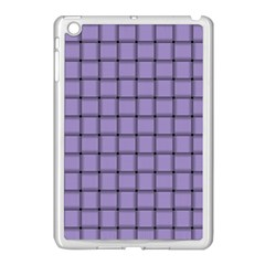 Light Pastel Purple Weave Apple iPad Mini Case (White)