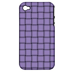 Light Pastel Purple Weave Apple Iphone 4/4s Hardshell Case (pc+silicone)