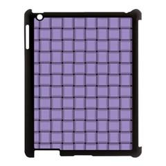 Light Pastel Purple Weave Apple iPad 3/4 Case (Black)