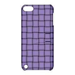 Light Pastel Purple Weave Apple iPod Touch 5 Hardshell Case with Stand