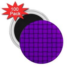 Dark Violet Weave 2.25  Button Magnet (100 pack)