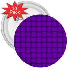 Dark Violet Weave 3  Button (10 pack)
