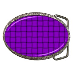 Dark Violet Weave Belt Buckle (Oval)