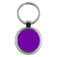 Dark Violet Weave Key Chain (round)