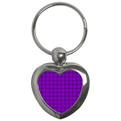 Dark Violet Weave Key Chain (Heart)