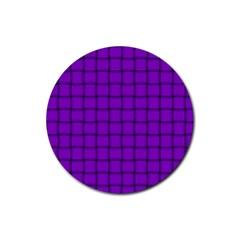 Dark Violet Weave Drink Coasters 4 Pack (Round)