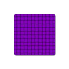 Dark Violet Weave Magnet (square)