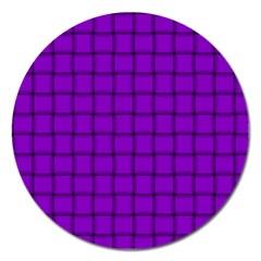 Dark Violet Weave Magnet 5  (round)