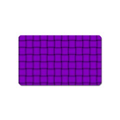 Dark Violet Weave Magnet (Name Card)