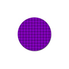 Dark Violet Weave Golf Ball Marker 10 Pack
