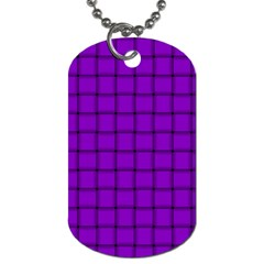 Dark Violet Weave Dog Tag (Two Sided)