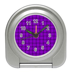Dark Violet Weave Desk Alarm Clock