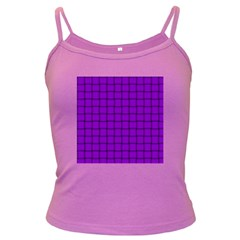 Dark Violet Weave Spaghetti Top (Colored)