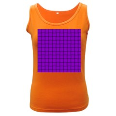 Dark Violet Weave Womens  Tank Top (dark Colored)