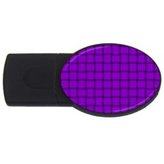 Dark Violet Weave 4GB USB Flash Drive (Oval)