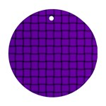 Dark Violet Weave Round Ornament (Two Sides) Front
