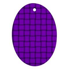 Dark Violet Weave Oval Ornament (Two Sides)