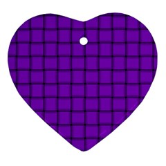 Dark Violet Weave Heart Ornament (Two Sides)