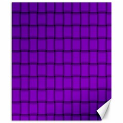 Dark Violet Weave Canvas 8  x 10  (Unframed)