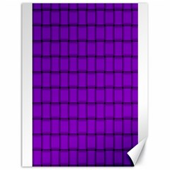 Dark Violet Weave Canvas 18  X 24  (unframed)