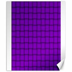 Dark Violet Weave Canvas 20  x 24  (Unframed)