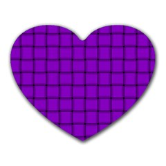 Dark Violet Weave Mouse Pad (Heart)