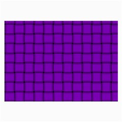 Dark Violet Weave Glasses Cloth (Large, Two Sided)