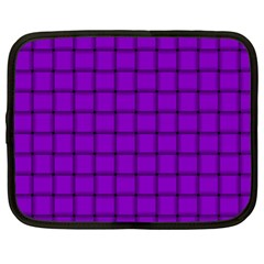 Dark Violet Weave Netbook Case (Large)