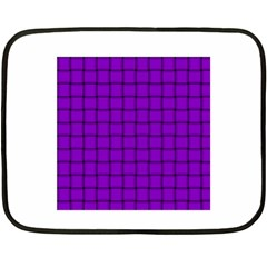 Dark Violet Weave Mini Fleece Blanket (Two-sided)