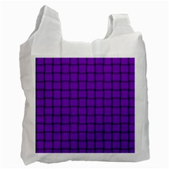 Dark Violet Weave Recycle Bag (one Side)
