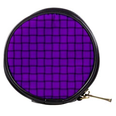 Dark Violet Weave Mini Makeup Case